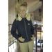 doudoune marine avec fourrure pénélope