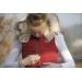 doudoune rouge à capuche fourrée Pénélope store