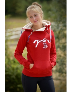 Sweat Double zip - Rouge
