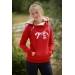 sweat double zip rouge pénélope store