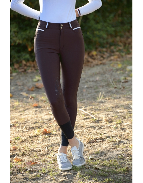 pantalon d'équitation chocolat Pénélope.