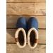 boots type ugg bleu