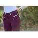 pantalon d'équitation prune et blanc