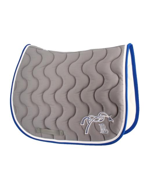 tapis de selle gris clair & bleu roi Pénélope Store