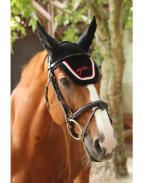 Point Sellier Fly veil - Black & red