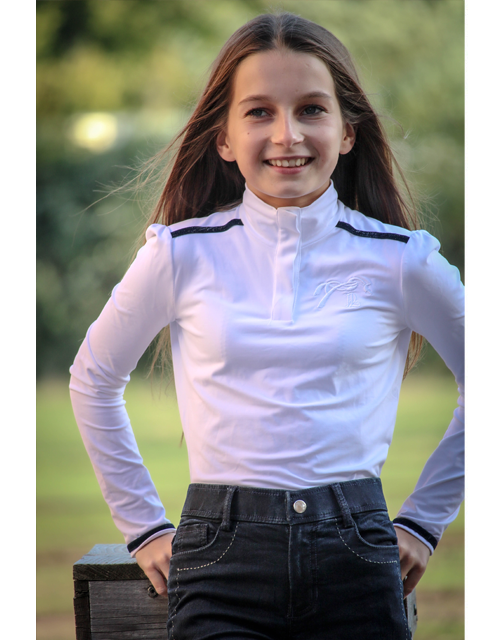Bruges Competition Polo Shirt Children - White & Navy