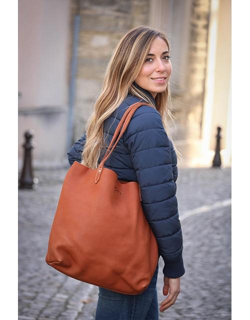 Pénélope tote-bag - Brandy