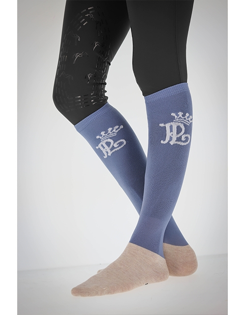Chaussettes d'Equitation - Bleu Vintage