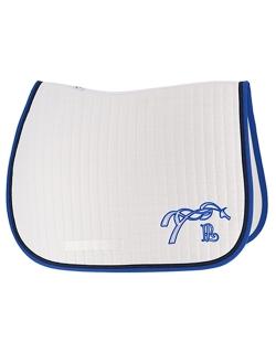 American saddle pad - White & royal blue