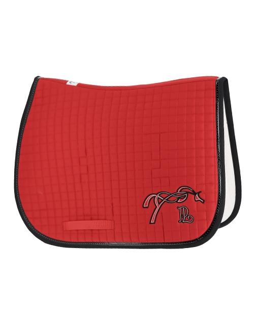 American saddle pad - Red & black
