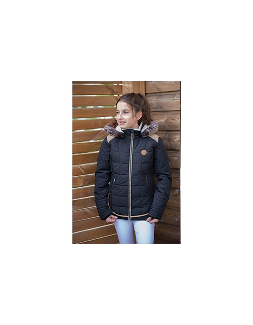 Young Beaumont glitter black down jacket - Junior