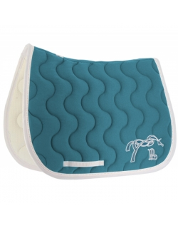 Classic Point Sellier saddle pad - Peacock blue & white