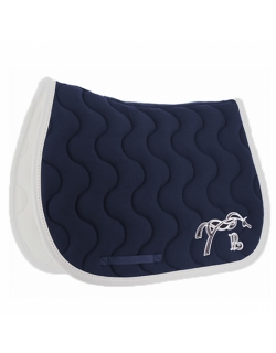 Classic Point sellier saddle pad - Navy & white