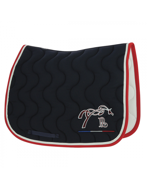 Point Sellier Classic Saddle pad - Navy blue & Red