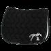 Point Sellier classic saddle pad - Black & patent black