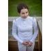 Polo de concours Bruges blanc & galon tricolore - Junior