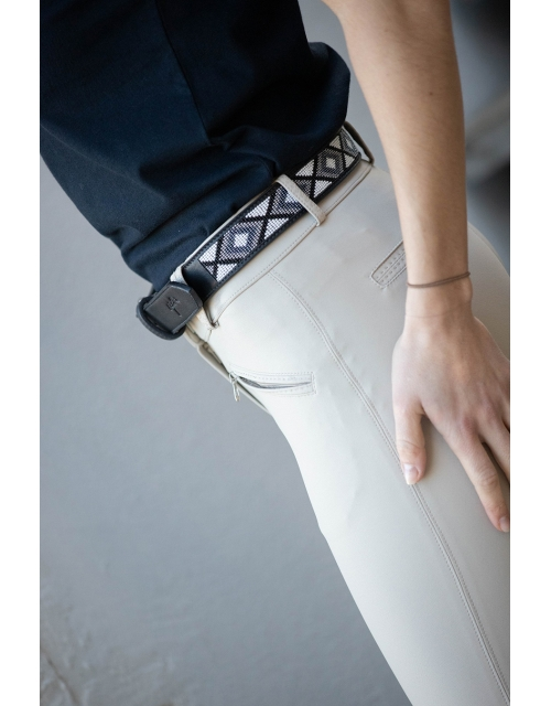 Pearl belt - Black & white