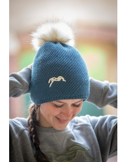 Waki knitted hat - Peacock blue