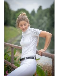 Polo de concours Anaïs manches courtes - Blanc