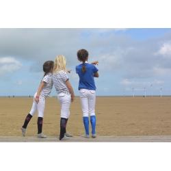 """Pantalon d'équitation """"FLUO"""" - Taupe/jaune"""